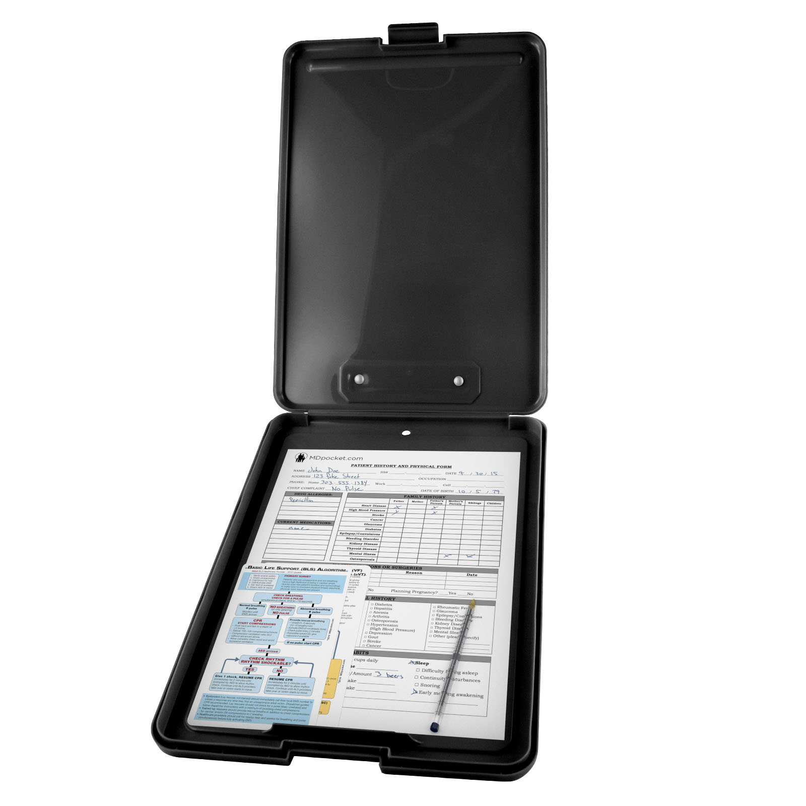 Flat Storage Metric Nursing Clipboard